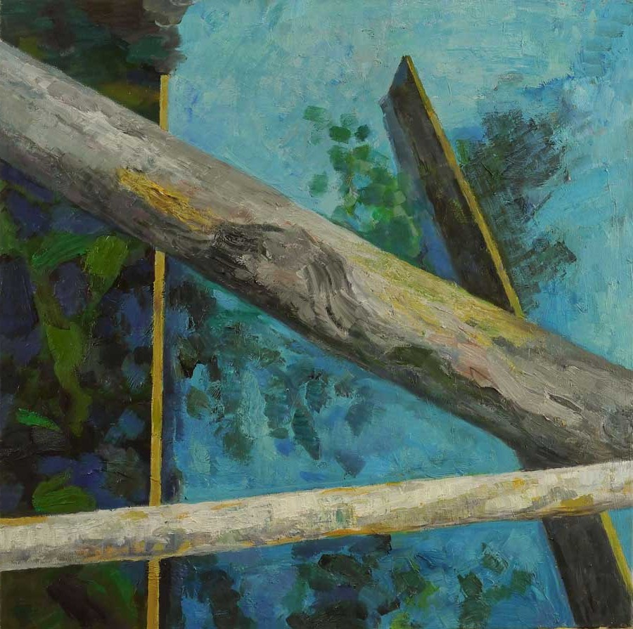 Hans Kutschke, Am Herthasee, 2009, Öl auf Leinwand, 80 x 80 cm