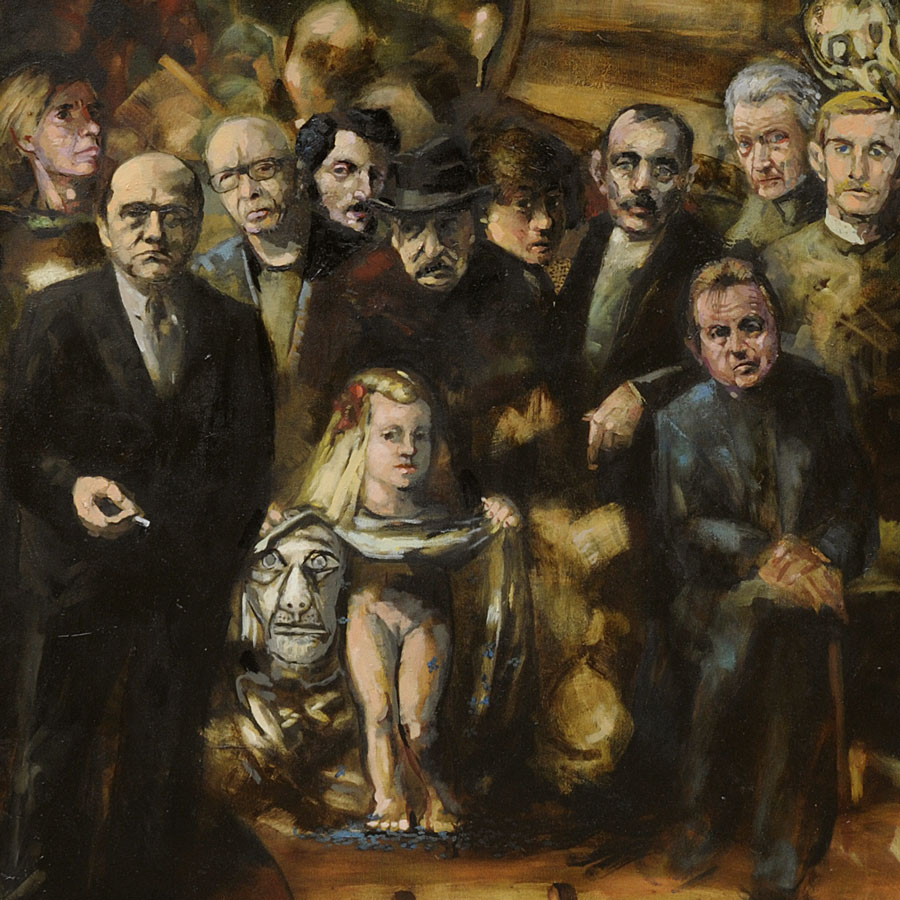 Lutz Friedel, Das nächtliche Atelier, 2013, Öl auf Leinwand, 190 x 220 cm